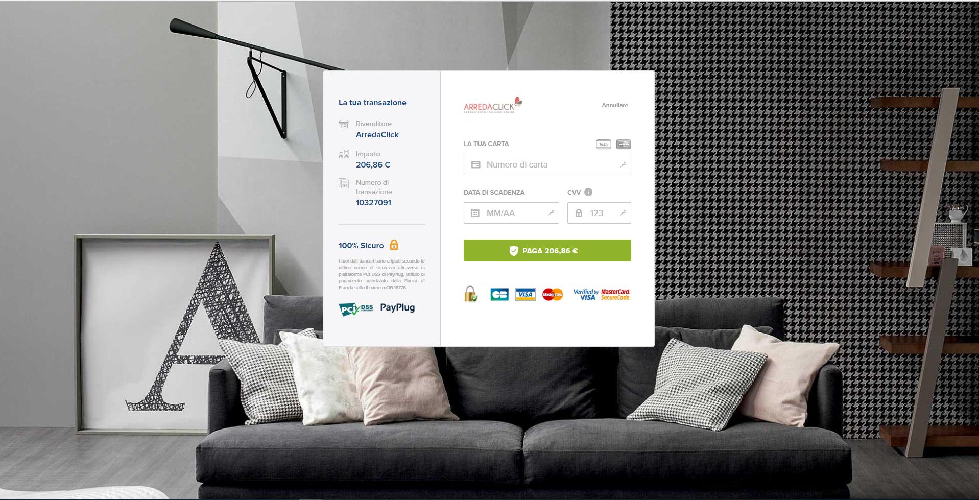 Arredaclick - payment page magento