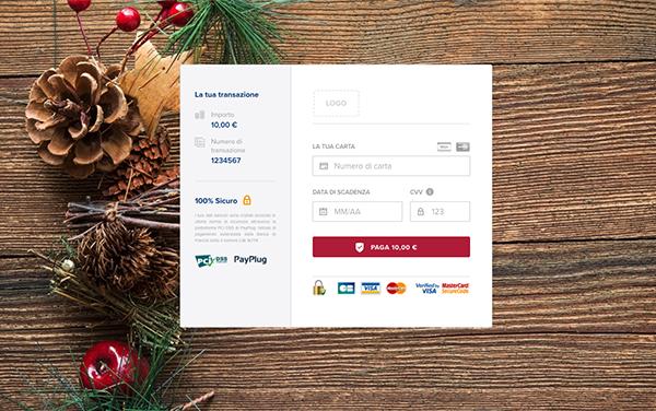 personalizzare anche la pagina di pagamento