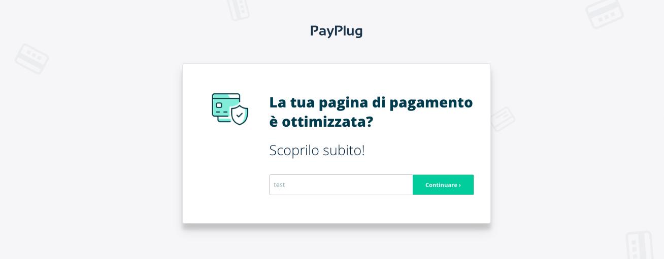 valuta pagina di pagamento
