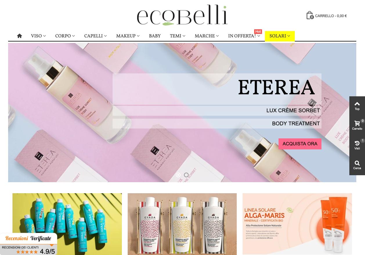 Font serif sul sito Ecobelli