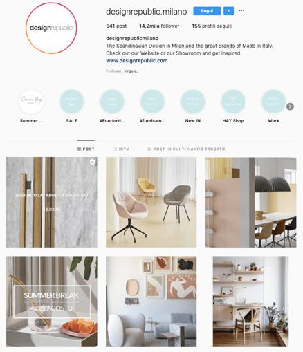 Feed Instagram di Design Republic