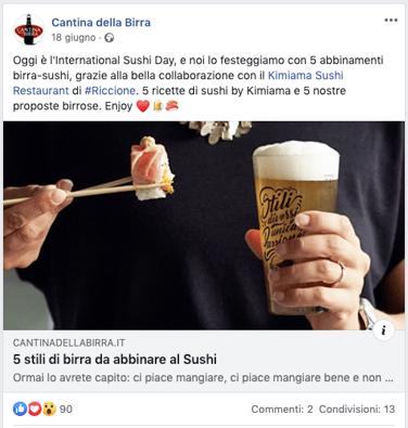 Abbinamenti birra - sushi