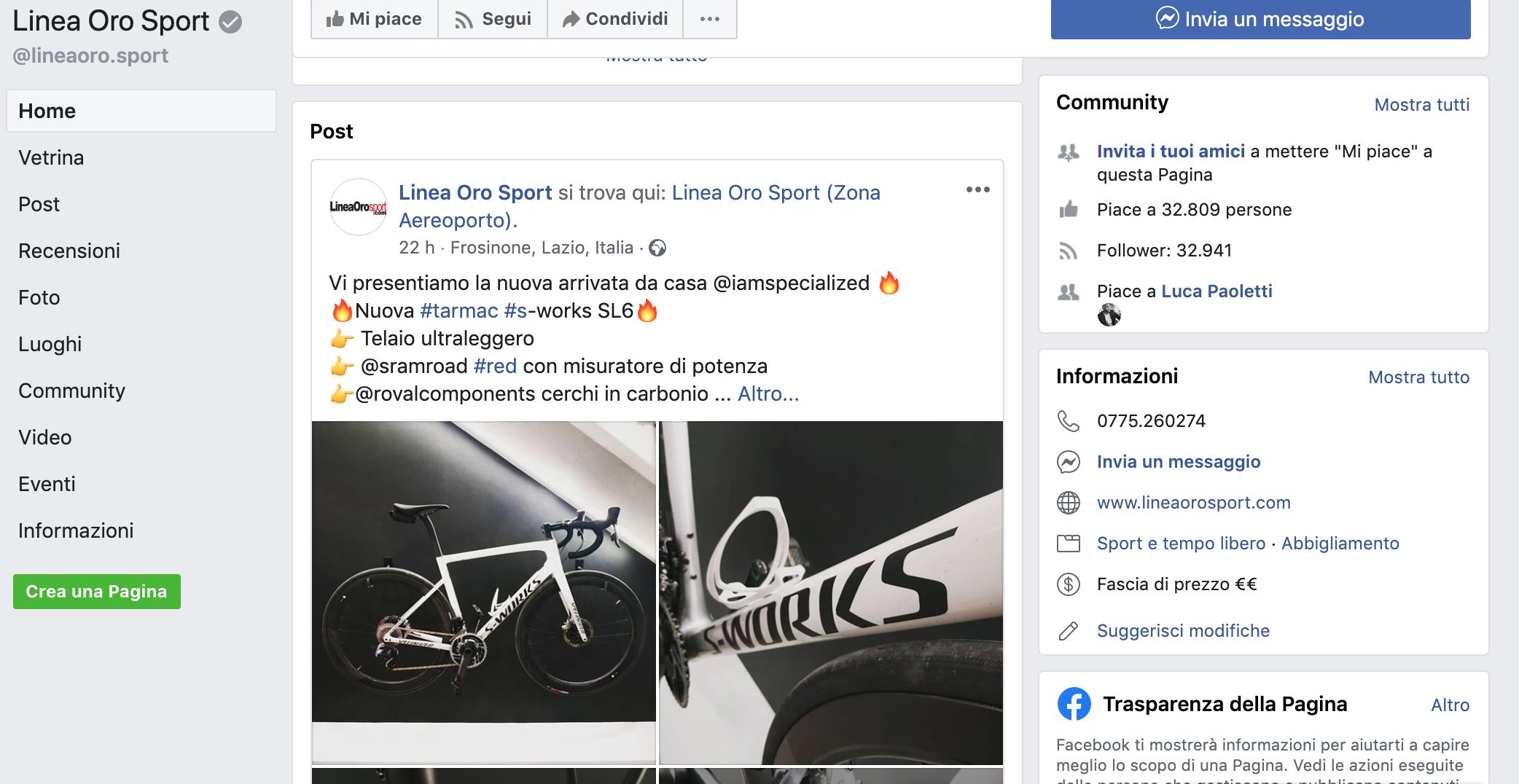 Linea Oro Sport