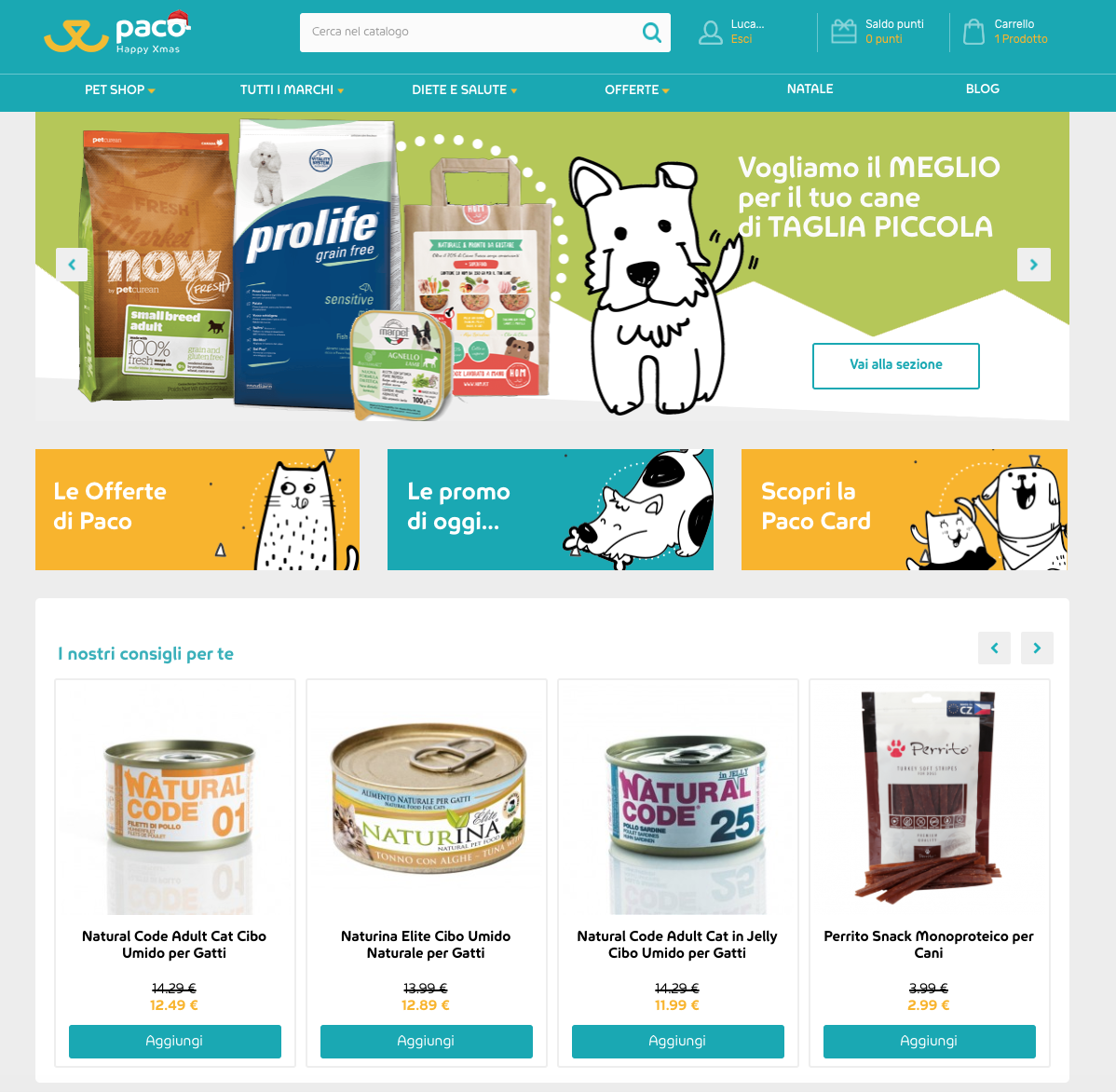 Homepage Paco Pet Shop