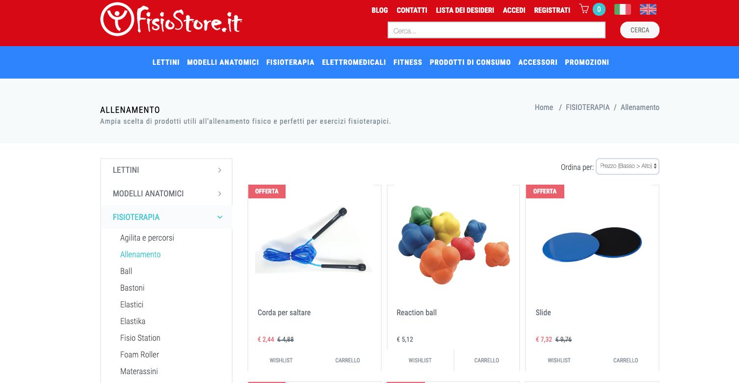 Homepage Fisiostore