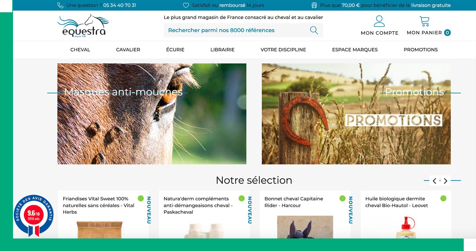 Equestra homepage