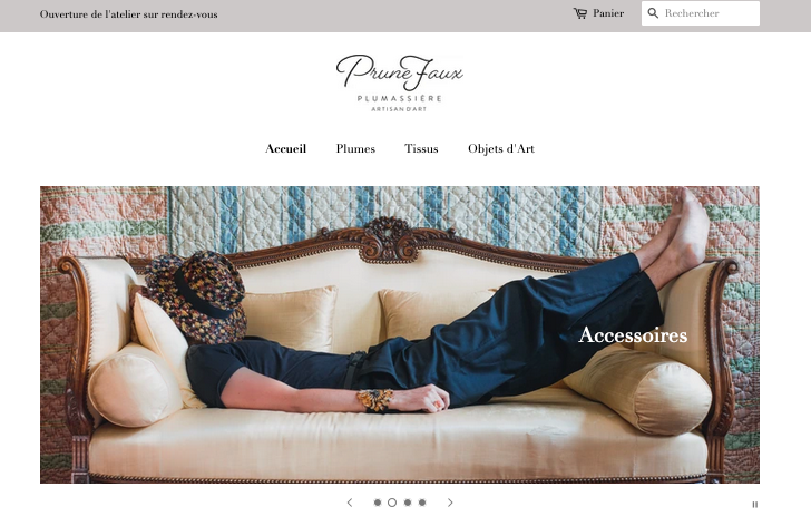 Site web Prune Faux
