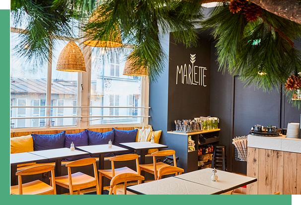 Coffee shop Marlette intérieur