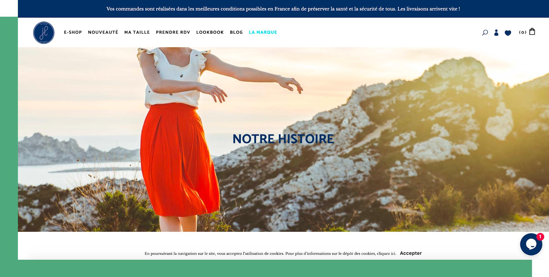 Homepage Les Jupons de Louison