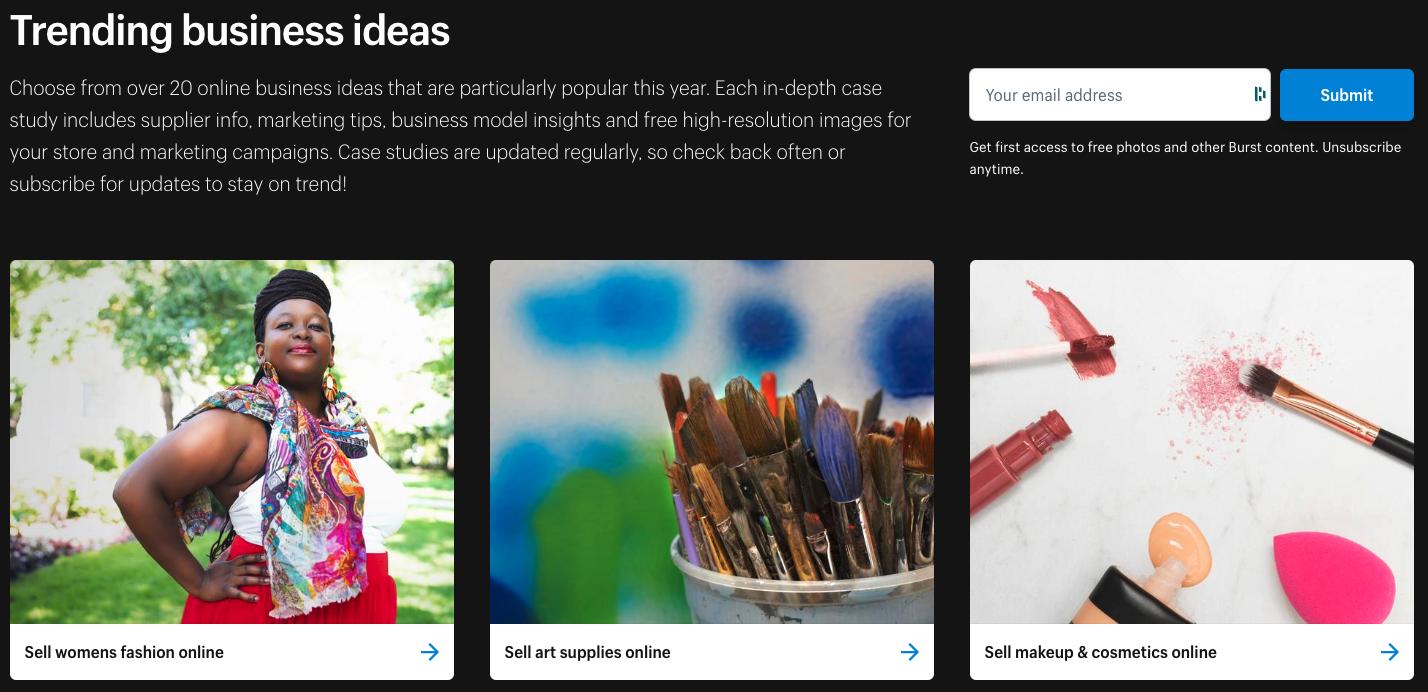 burst trending business ideas