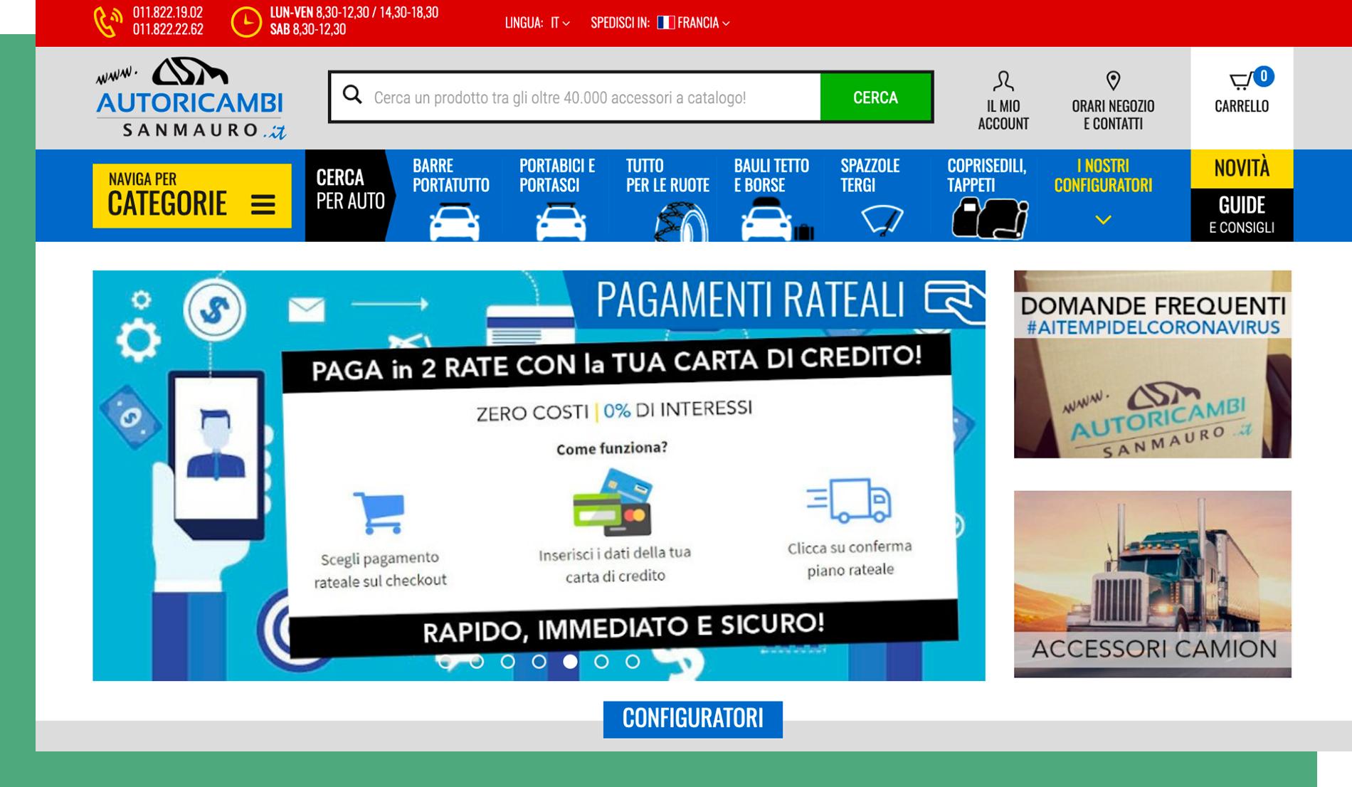 Homepage Autoricambi SanMauro