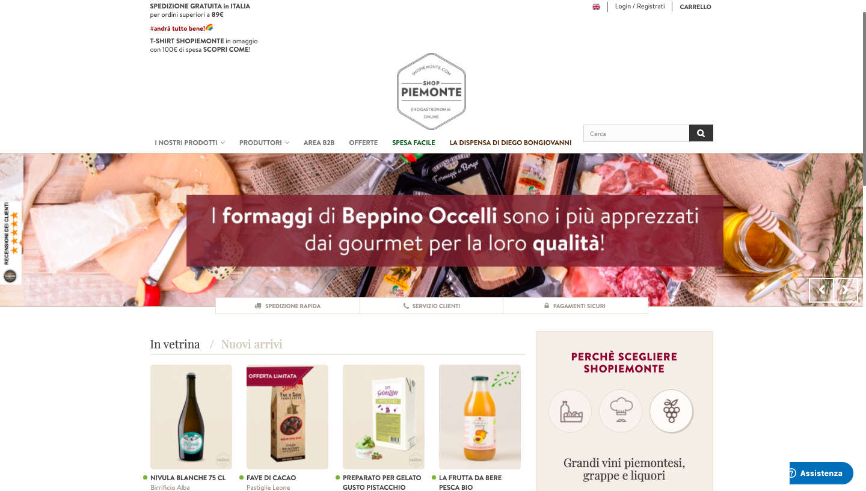 Shopiemonte homepage
