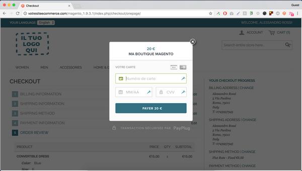 PayPlug module magento
