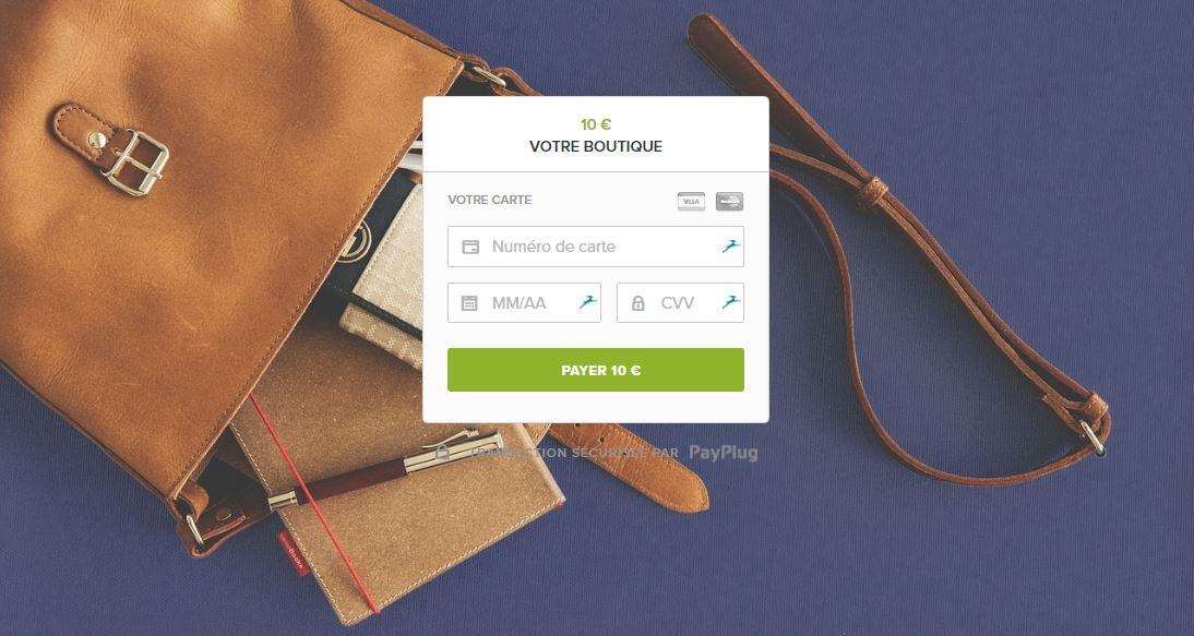 personnaliser sa page de paiement