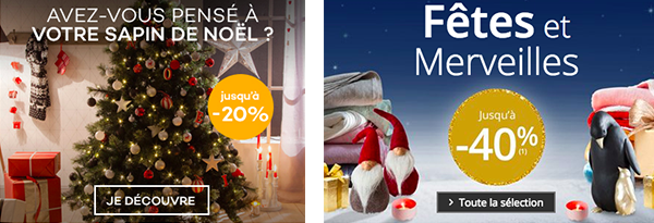 Promotions de Noël e-commerce