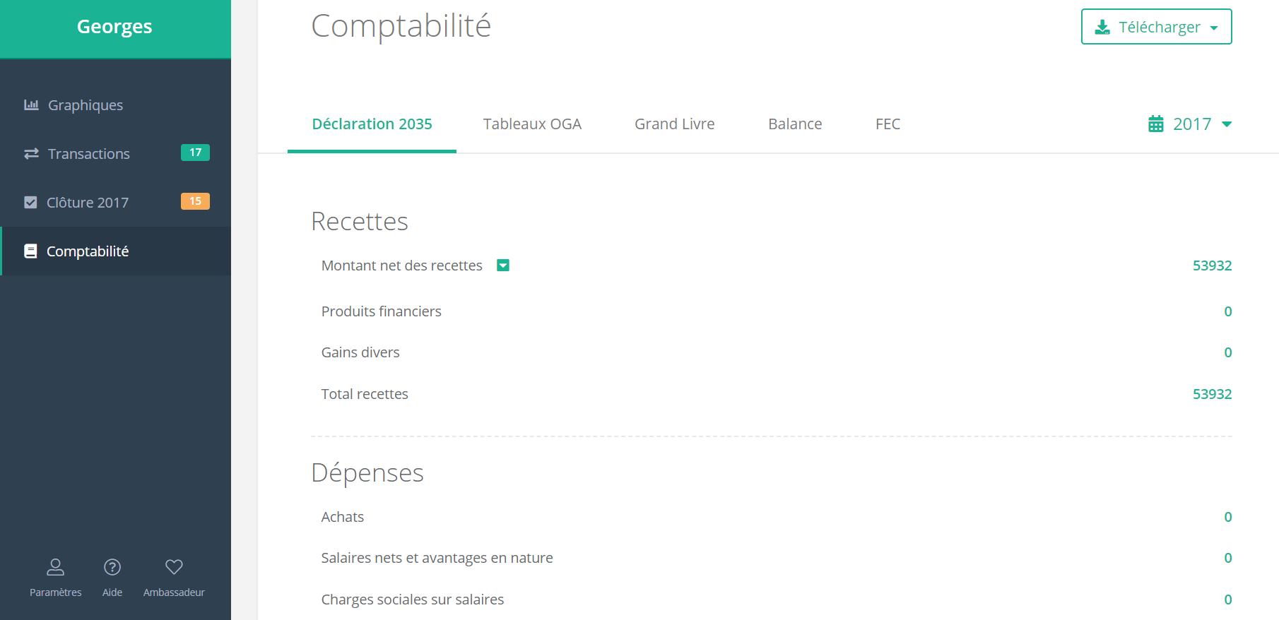 comptabilité simple