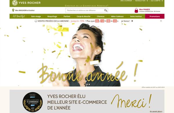 yves-rocher.fr meilleur site e-commerce 2017