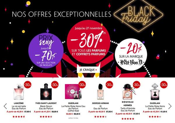 Exemple sélection spéciale Black Friday