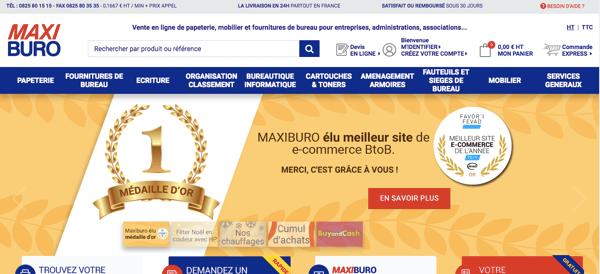 Maxiburo meilleur site e-commerce BtoB