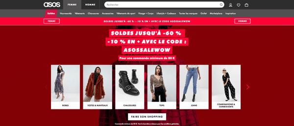 Asos meilleur site e-commerce