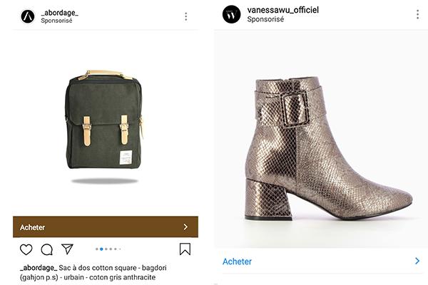 Exemples Instagram