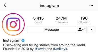 Account verificato Instagram