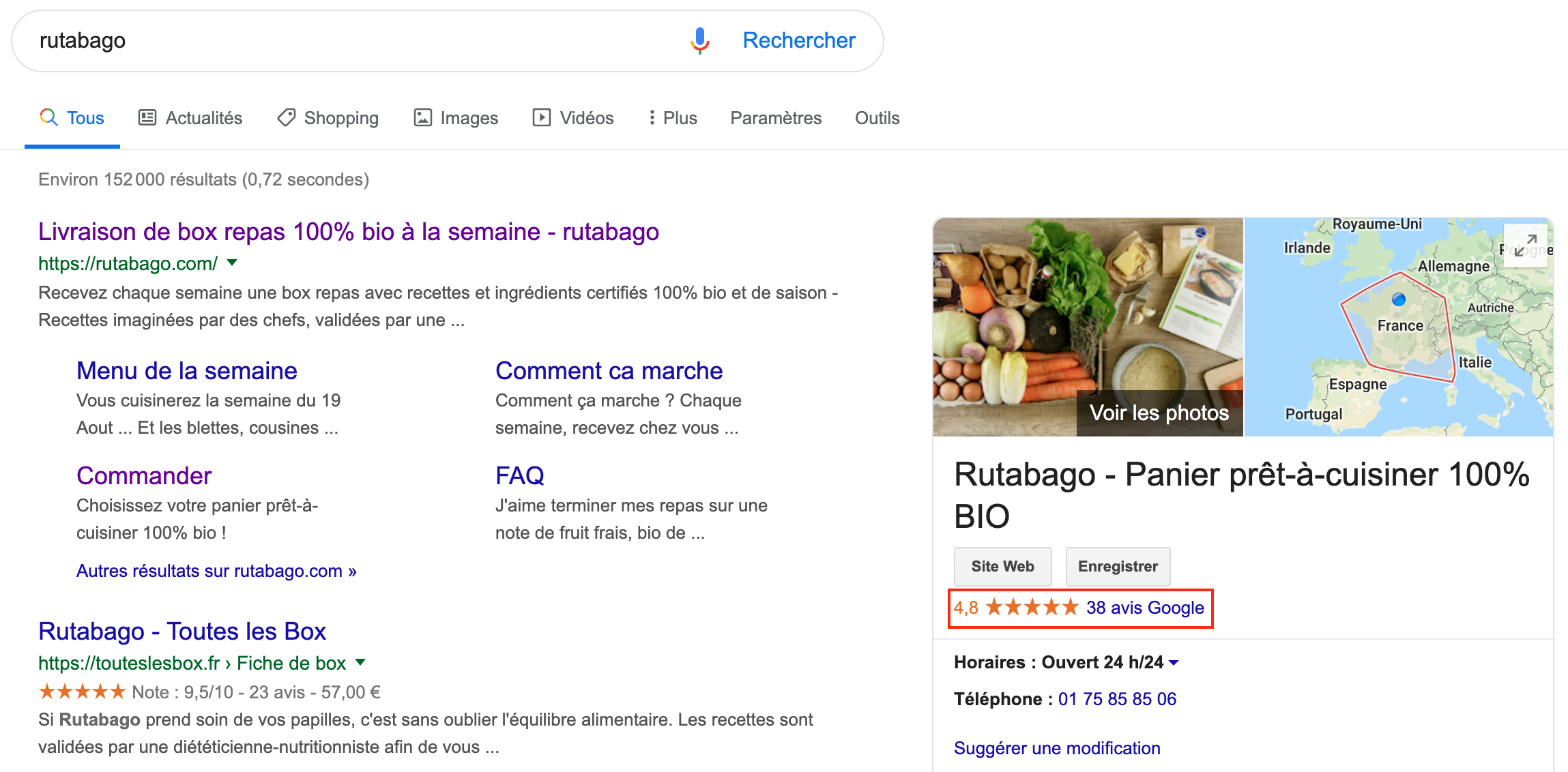 Avis clients Rutabago