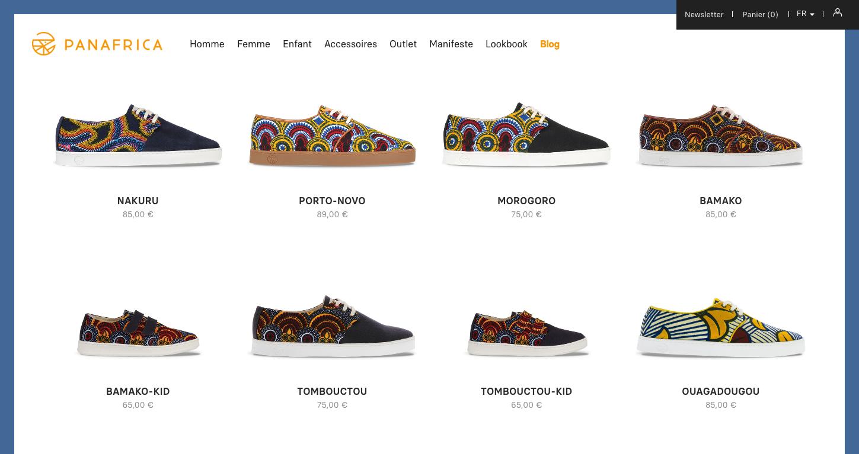 Page d'accueil du site Panafrica