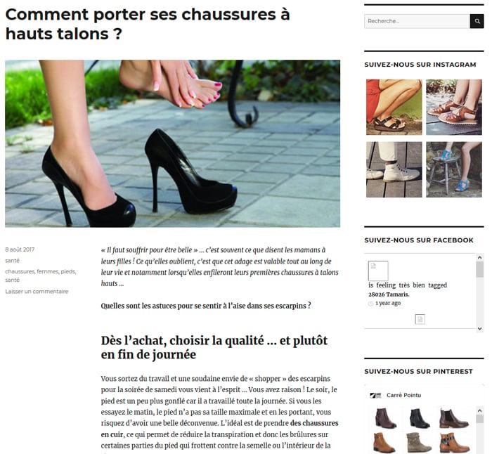 Blog du site Carré Pointu