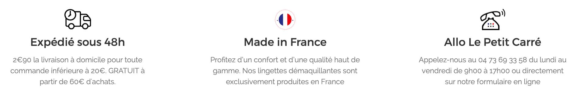 Footer Le petit carré français