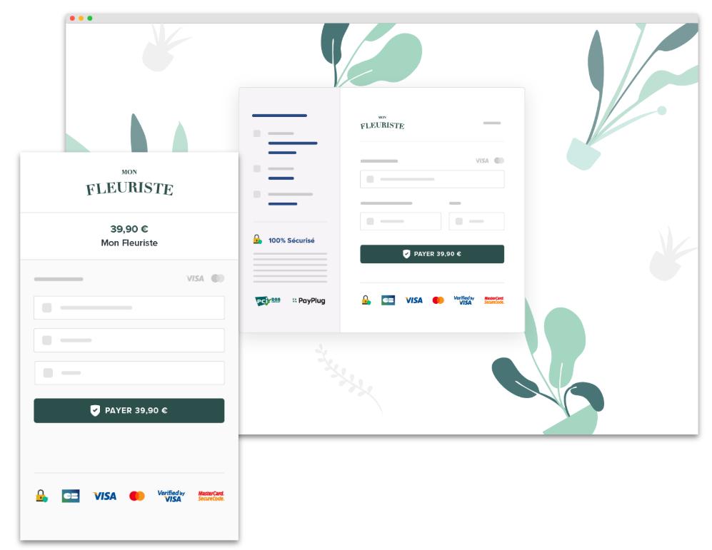 Page de paiement responsive