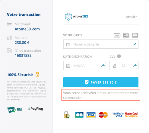 Atome3D.com paiement différé