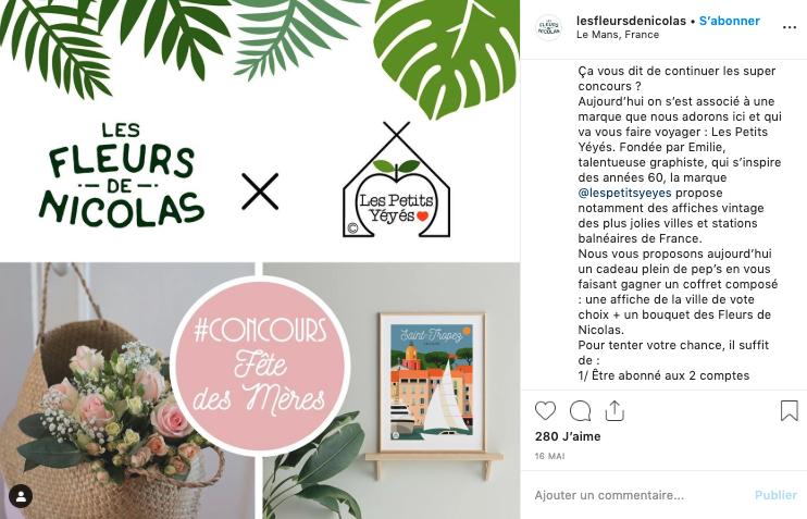 Concours Instagram Les Fleurs de Nicolas