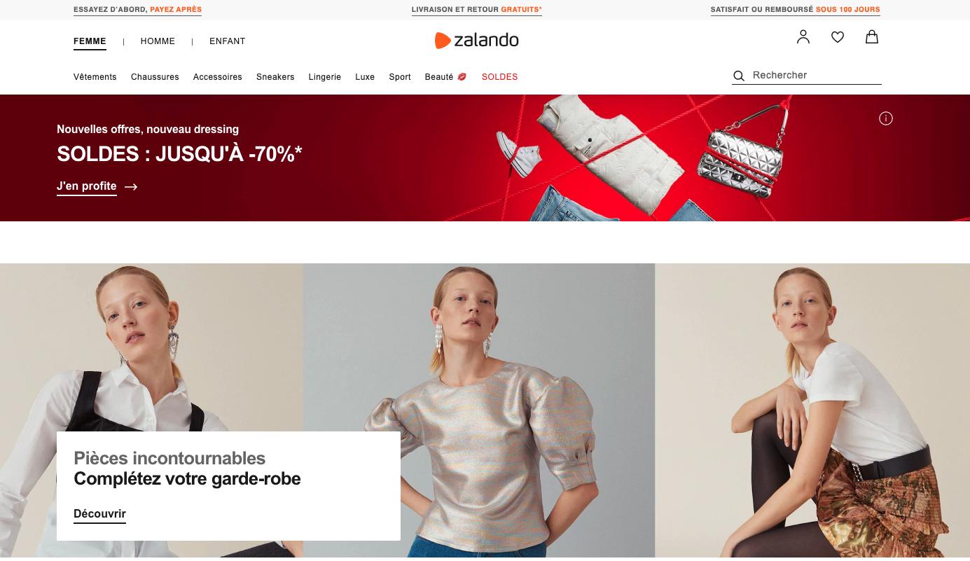 Zalando, les clés d'un parcours d'achat réussi
