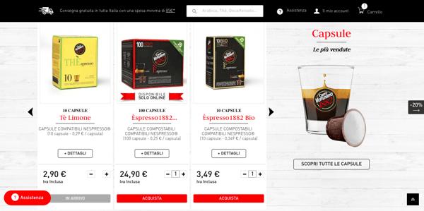 Homepage Caffè Vergnano