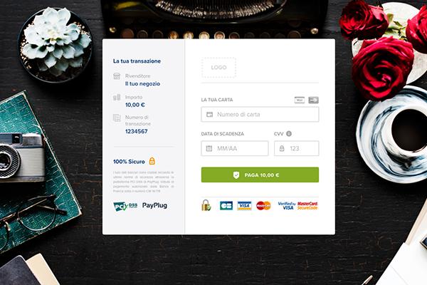 Nuovo stile di pagina di pagamento