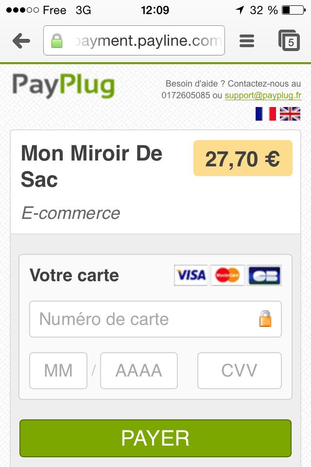 Payplug m-commerce paiement sur mobile