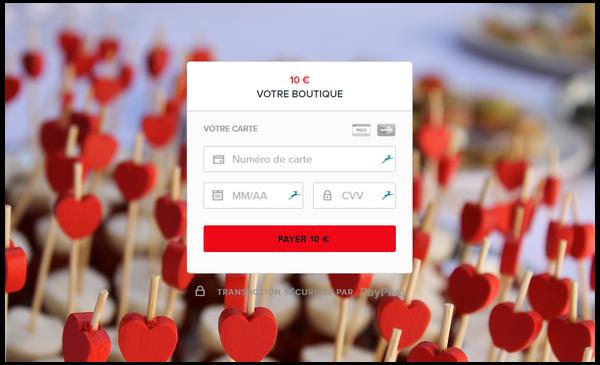 personnaliser sa page de paiement pour la saint valentin